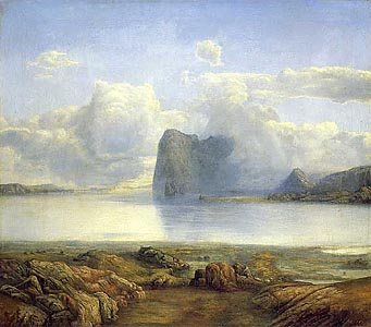 View from Borgorya by Lars Hertervig (1867)