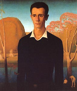 Arnold Comes of Age (Portrait of Arnold Pyle) by Grant Wood (1930)